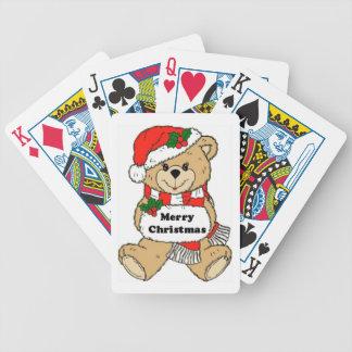 WeihnachtsTeddybär-Mitteilung Bicycle Spielkarten