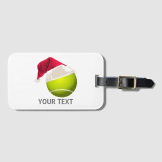 Weihnachtstennis-Ball-Weihnachtsmannmütze Gepäckanhänger