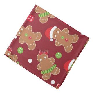 Weihnachtsthema-Lebkuchen-Männer Halstuch