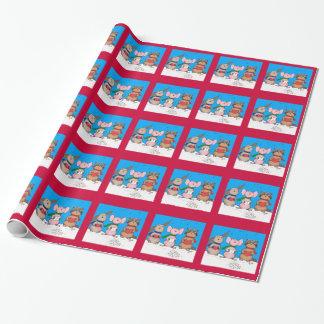 Weihnachtstier-Packpapiere Geschenkpapier