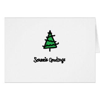 Weihnachtstinten-Briefmarken Karte