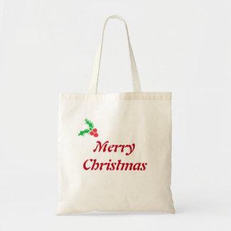Weihnachtstote/frohe Weihnachten Tragetasche