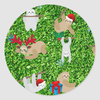 WeihnachtsTrägheit Runder Aufkleber