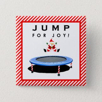 Weihnachtstrampolinegeschenke Quadratischer Button 5,1 Cm