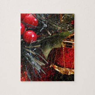 Weihnachtstrommel mit Beeren Puzzle