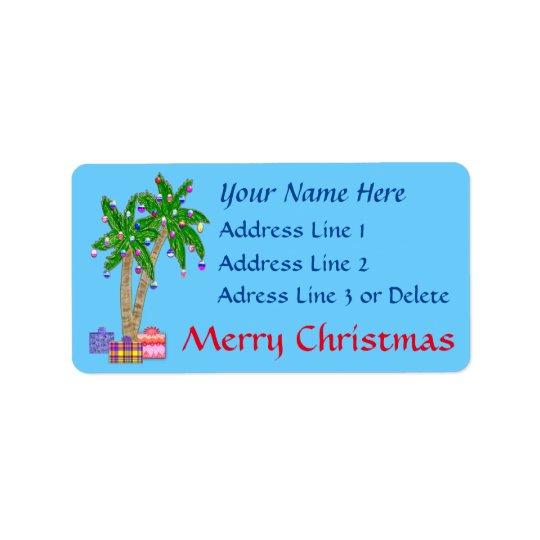Weihnachtstropische Adressen-Etiketten mit IHREM Adress Aufkleber