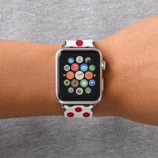 WeihnachtsTupfenmuster-Apfel-Uhrenarmband Apple Watch Armband