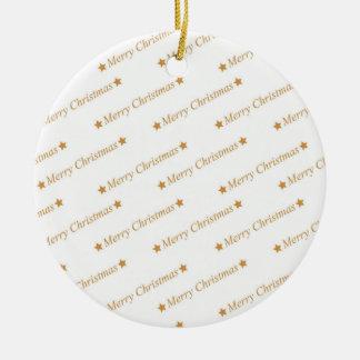 Weihnachtstypographie-frohe Weihnacht-Muster Keramik Ornament
