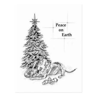 Weihnachtstyrann-Postkarte Postkarte