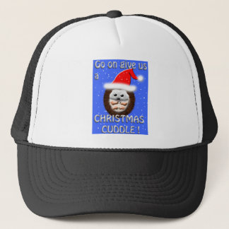 Weihnachtsumarmungs-Igel Truckerkappe
