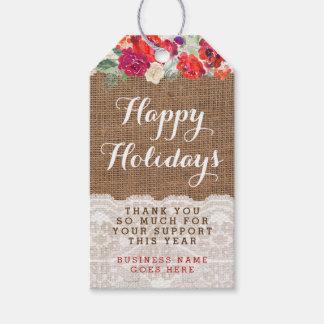 Weihnachtsumbauten für Angestellter oder Kunde Geschenkanhänger