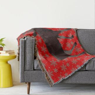 Weihnachtsumfassende Feiertags-Elch-Wurfs-Decken Decke