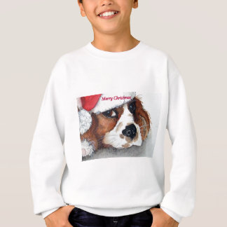 Weihnachtsunbekümmerter Königcharles Spaniel Sweatshirt