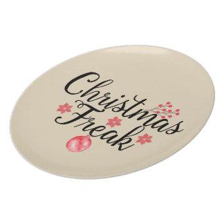 Weihnachtsungewöhnliche Typografie Melaminteller
