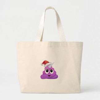 WeihnachtsUnicorn kacken Emoji Jumbo Stoffbeutel
