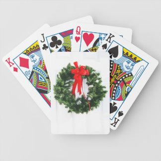 Weihnachtsverziert fröhlicher Feiertags-Baum Feier Bicycle Spielkarten