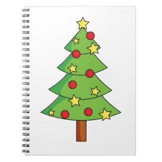 Weihnachtsverziert fröhlicher Feiertags-Baum Feier Spiral Notizblock