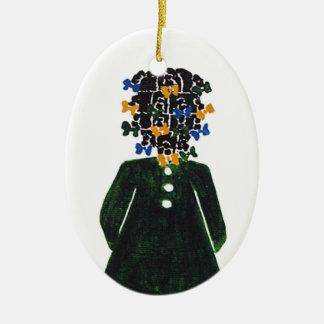 Weihnachtsverzierung durch Rose HillThe wenig Ovales Keramik Ornament
