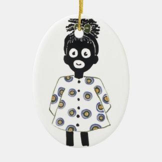 Weihnachtsverzierung Ovales Keramik Ornament
