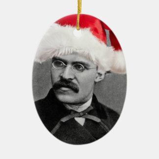 Weihnachtsverzierung Sankt Nietzsche Keramik Ornament