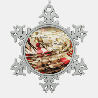 Weihnachtsverzierung Schneeflocken Zinn-Ornament