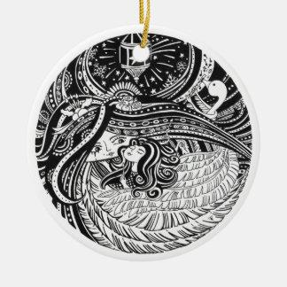 Weihnachtsverzierung WENIG MATCH-MÄDCHEN Keramik Ornament