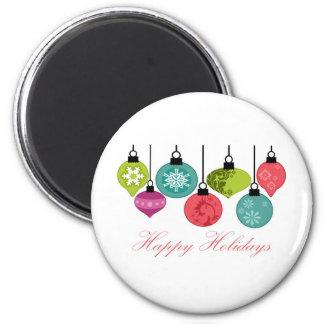 Weihnachtsverzierungen frohe Feiertage Runder Magnet 5,1 Cm
