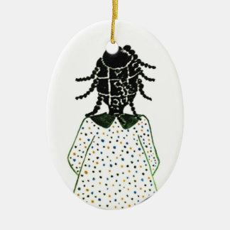 Weihnachtsverzierungen Ovales Keramik Ornament