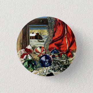 Weihnachtsverzierungen Runder Button 3,2 Cm