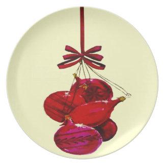 Weihnachtsverzierungen Teller