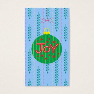 Weihnachtsverzierungs-Geschenk-Umbau Visitenkarte