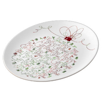 Weihnachtsverzierungs-Porzellan-Platte Porzellanteller