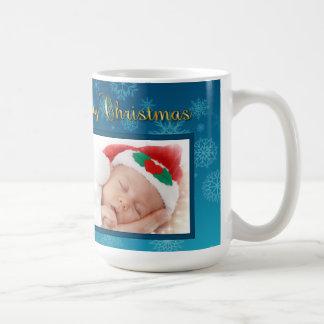 Weihnachtsverzierungs-u. -schneeflocke-Foto-Tasse Kaffeetasse