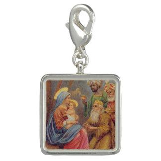 WeihnachtsVintage Nativity-Jesus-Illustration Charm
