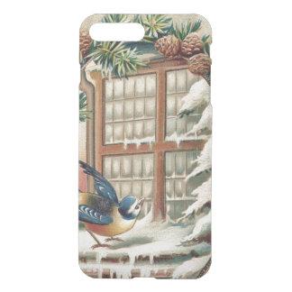 Weihnachtsvogel-Baum-Kiefern-Kegel iPhone 8 Plus/7 Plus Hülle