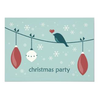 Weihnachtsvogel-Party Einladungen