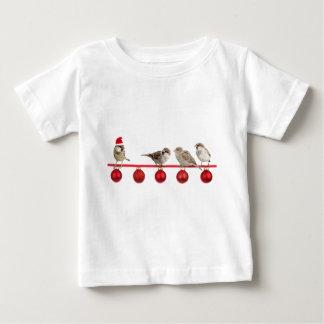 Weihnachtsvogelspatzen Baby T-shirt