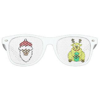 Weihnachtsweihnachtsmann-Ren-Brillen Retro Sonnenbrillen