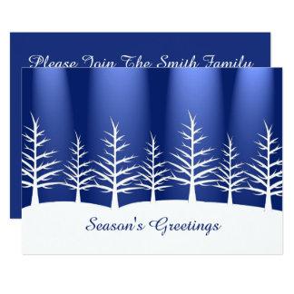 Weihnachtsweißer Baum-Schnee 12,7 X 17,8 Cm Einladungskarte