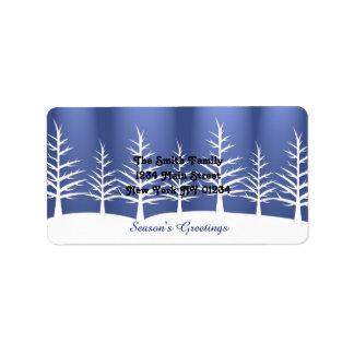 Weihnachtsweißer Baum-Schnee Adressaufkleber