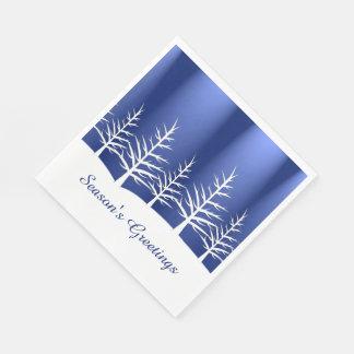 Weihnachtsweißer Baum-Schnee Papierserviette