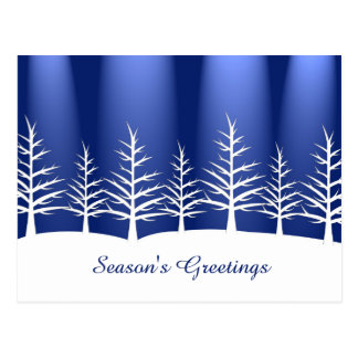 Weihnachtsweißer Baum-Schnee Postkarte
