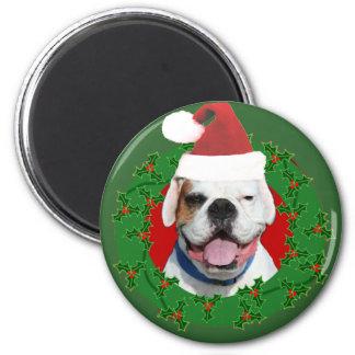 Weihnachtsweißer Boxermagnet Runder Magnet 5,7 Cm