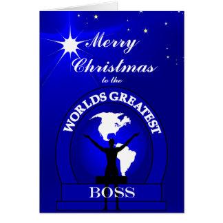 Weihnachtsweltbester Chef-Gruß Grußkarte