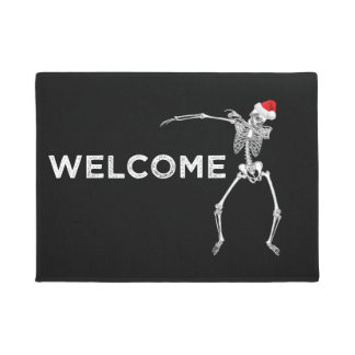 Weihnachtswillkommene Fußmatte, die Skeleton Sankt Türmatte