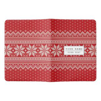 Weihnachtswinter-Strickjacke-strickendes Muster - Extra Großes Moleskine Notizbuch