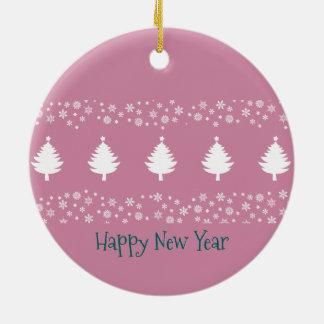 Weihnachtswinter-Waldelegantes schickes schönes Keramik Ornament