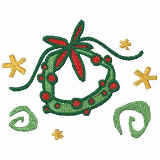WeihnachtsWreath gesticktes Shirt
