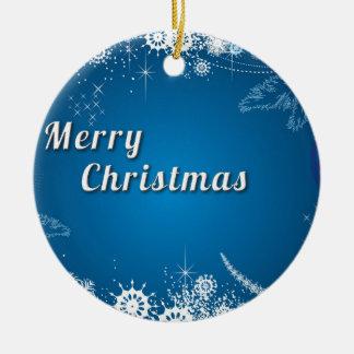 Weihnachtswunderlicher Schneeflocke-Wirbel Keramik Ornament