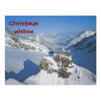 Weihnachtswünsche von der Spitze Europas Postkarte